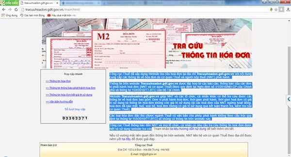 Tra cứu hóa đơn GTGT cá nhân, tổ chức trên Tracuuhoadon.gdt.gov.vn