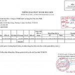 Thông báo phát hành hóa đơn GTGT