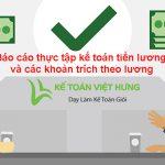 Báo cáo thực tập kế toán tiền lương và các khoản trích theo lương