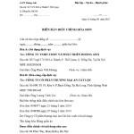 Hướng dẫn viết biên bản điều chỉnh hóa đơn theo thông tư 39