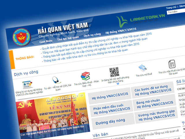 Tra cứu thông tin Hải quan - Xuất nhập khẩu