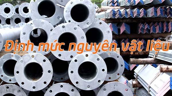 Xây dựng định mức nguyên vật liệu tạo nên thành phẩm sản xuất