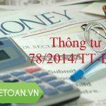 Thông tư 78/2014/TT-BTC sửa đổi, bổ sung Luật thuế TNDN