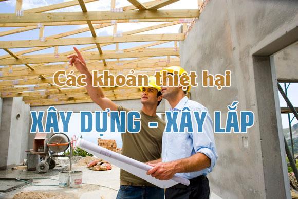 Kế toán các khoản thiệt hại trong xây dựng, xây lắp