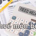 Tờ khai thuế môn bài