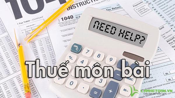Quy định về kê khai thuế môn bài
