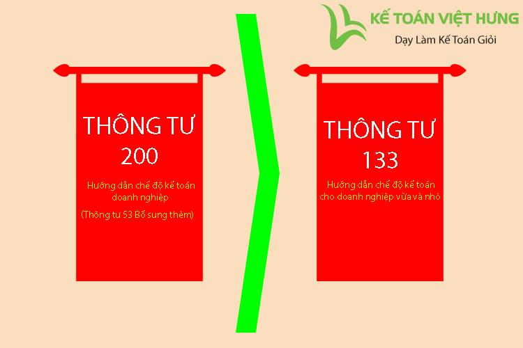 sự khác nhau giữa thông tư 200 và thông tư 133