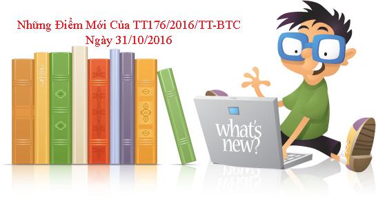 Những điểm mới của Thông tư 176/2016/TT-BTC