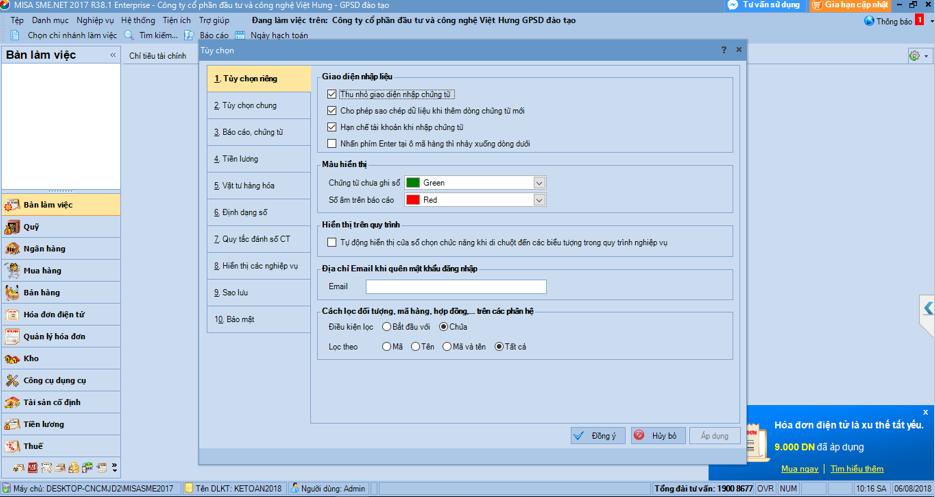 Những lưu ý khi thực hành kế toán trên phần mềm kế toán Misa