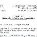 Chỉ dẫn chế độ kế toán DN theo thông tư 200/2014/TT-BTC