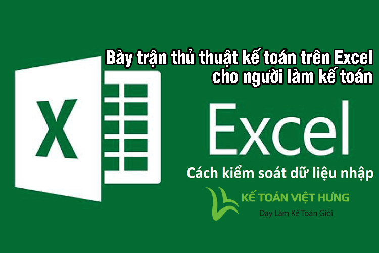 thủ thuật kế toán trên excel