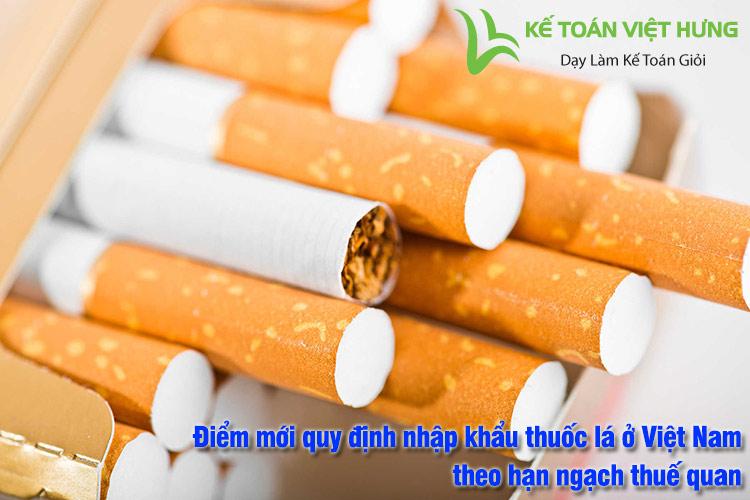 nhập khẩu thuốc lá ở việt nam