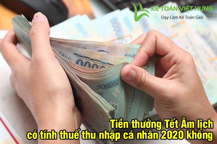tính thuế thu nhập cá nhân 2020