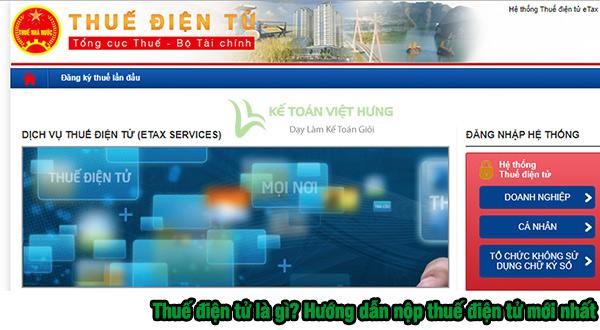 thuế điện tử mới