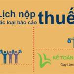 Lịch nộp tờ khai thuế năm 2020 | Kế toán Việt Hưng