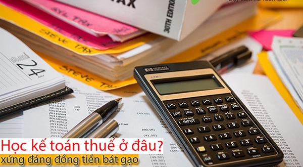 học kế toán thuế ở đâu