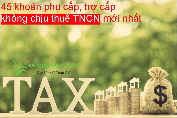 không chịu thuế tncn