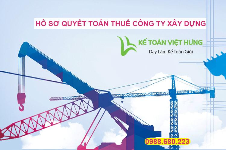 quyết toán thuế công ty xây dựng